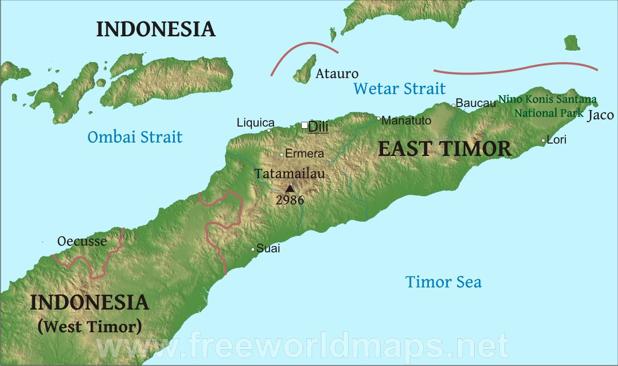 east-timor-map